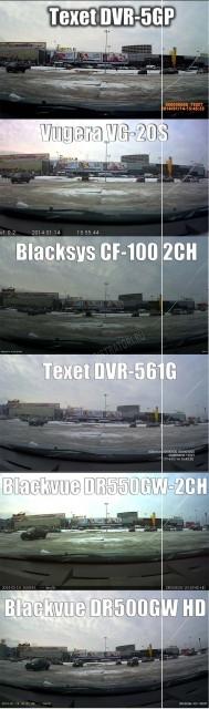 BlackSys CF-100 GPS 2ch - Угол обзора