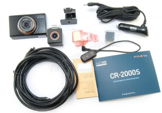 Премиум видеорегистратор FineVu CR-2000S - комплектация