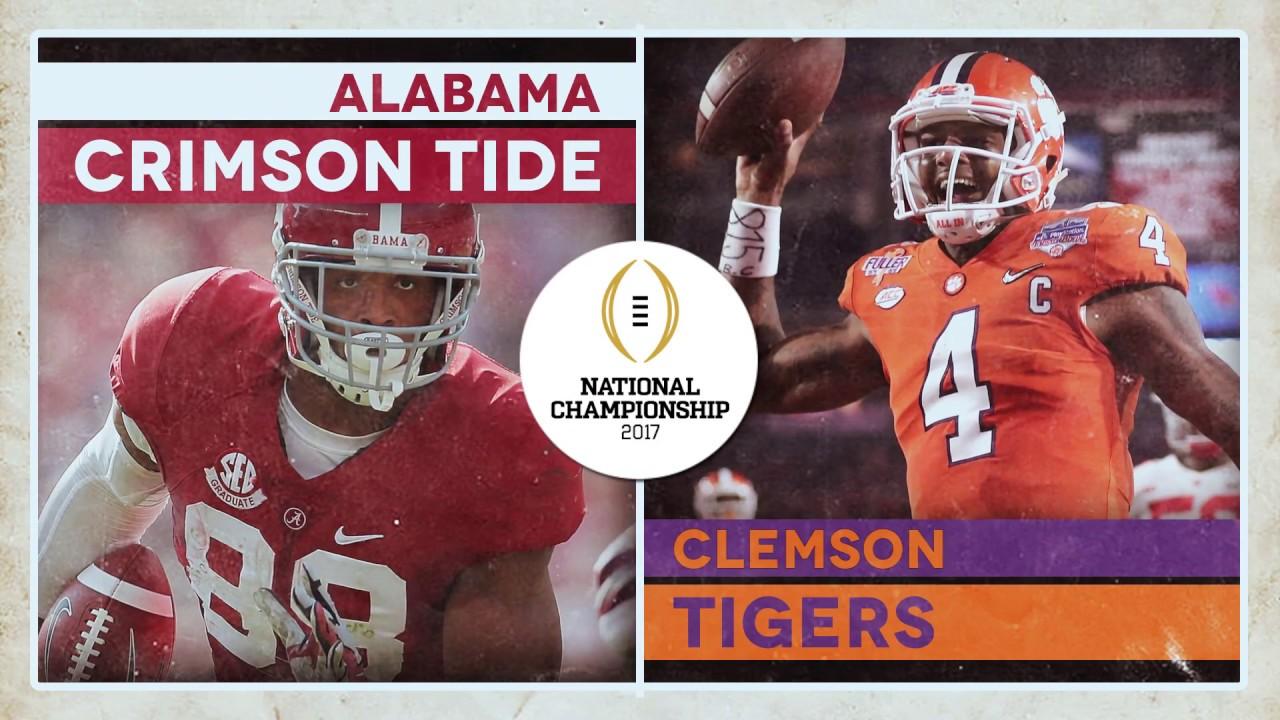 Alabama Crimson Tide, Clemson Tigers Football