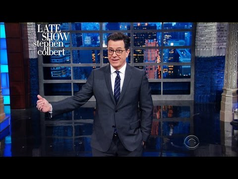 Donald Trump Wows At First Solo Stress Conference – Stephen Colbert