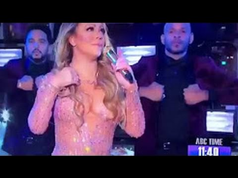 Mariah Carey Caught LIP SYNCING at Dick Clark's New Year Rockin' Eve 2017!