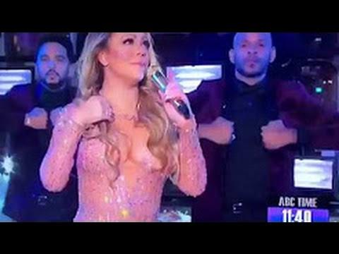 Mariah Carey Caught LIP SYNCING at Dick Clark's New Year Rockin' Eve 2017!