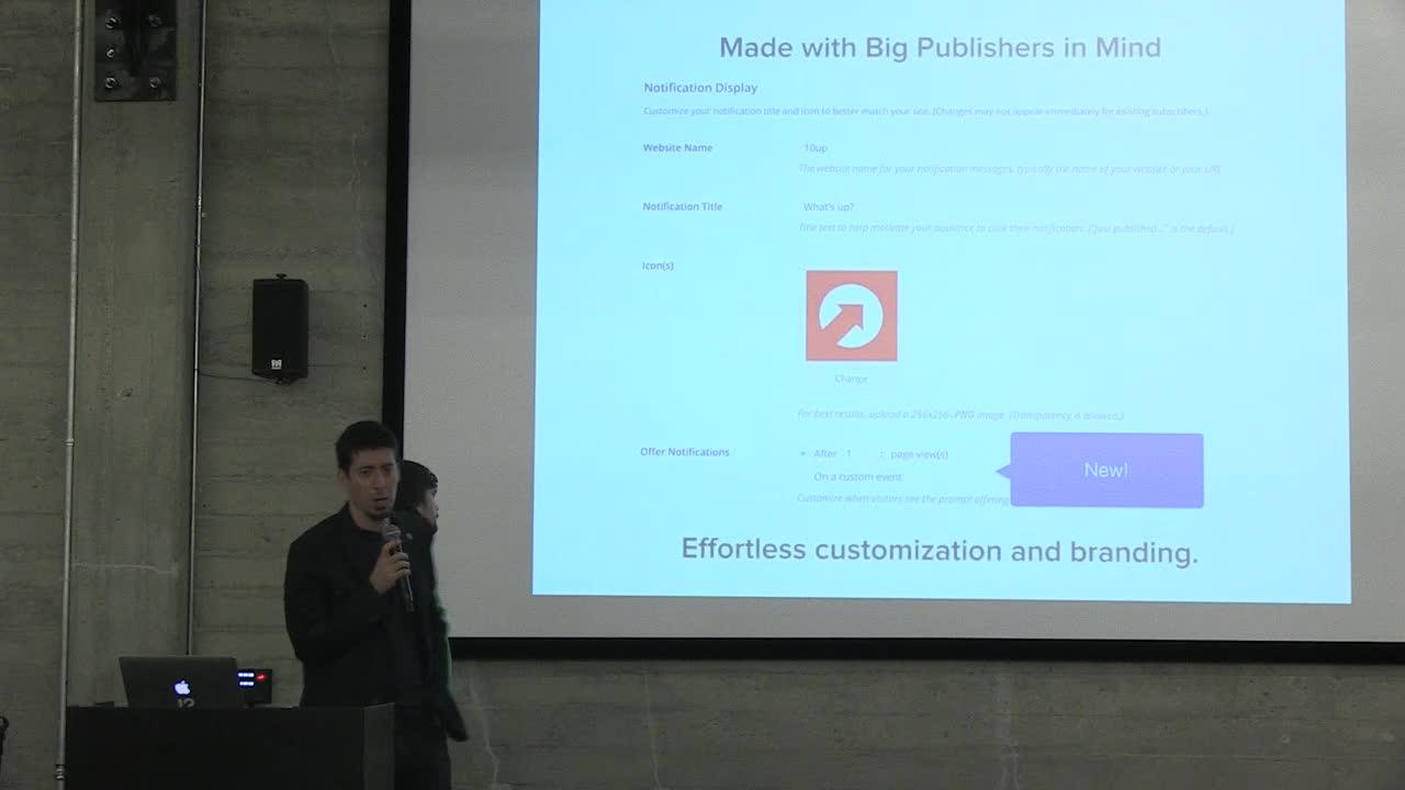 """Jake Goldman, Vasken Hauri (10up): """"Increasing Big Media Engagement with PushUp"""""""