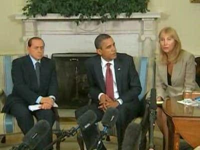 Obama parla alla stampa dopo l'incontro con Berlusconi 15 giugno