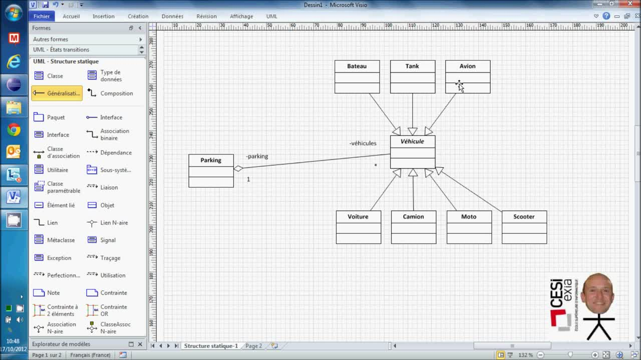 Diagramme de classe : Interface