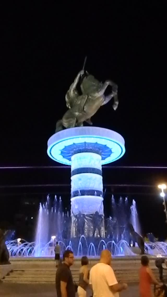Skopje: Warrior on a Horse (with music)