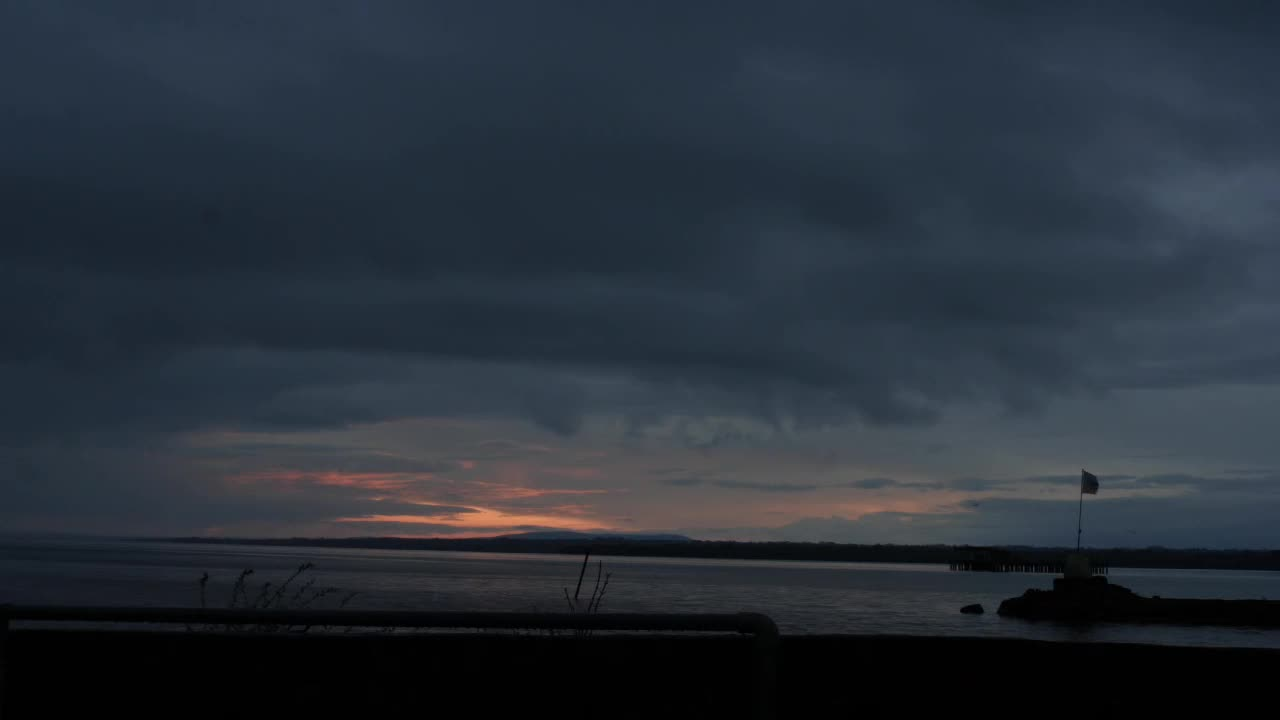 Rained out Sunset over Lough Neagh