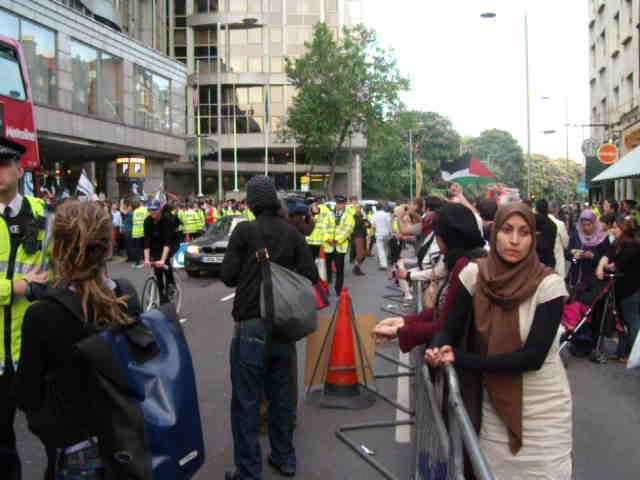 2nd June, outside Israeli Embassy, London