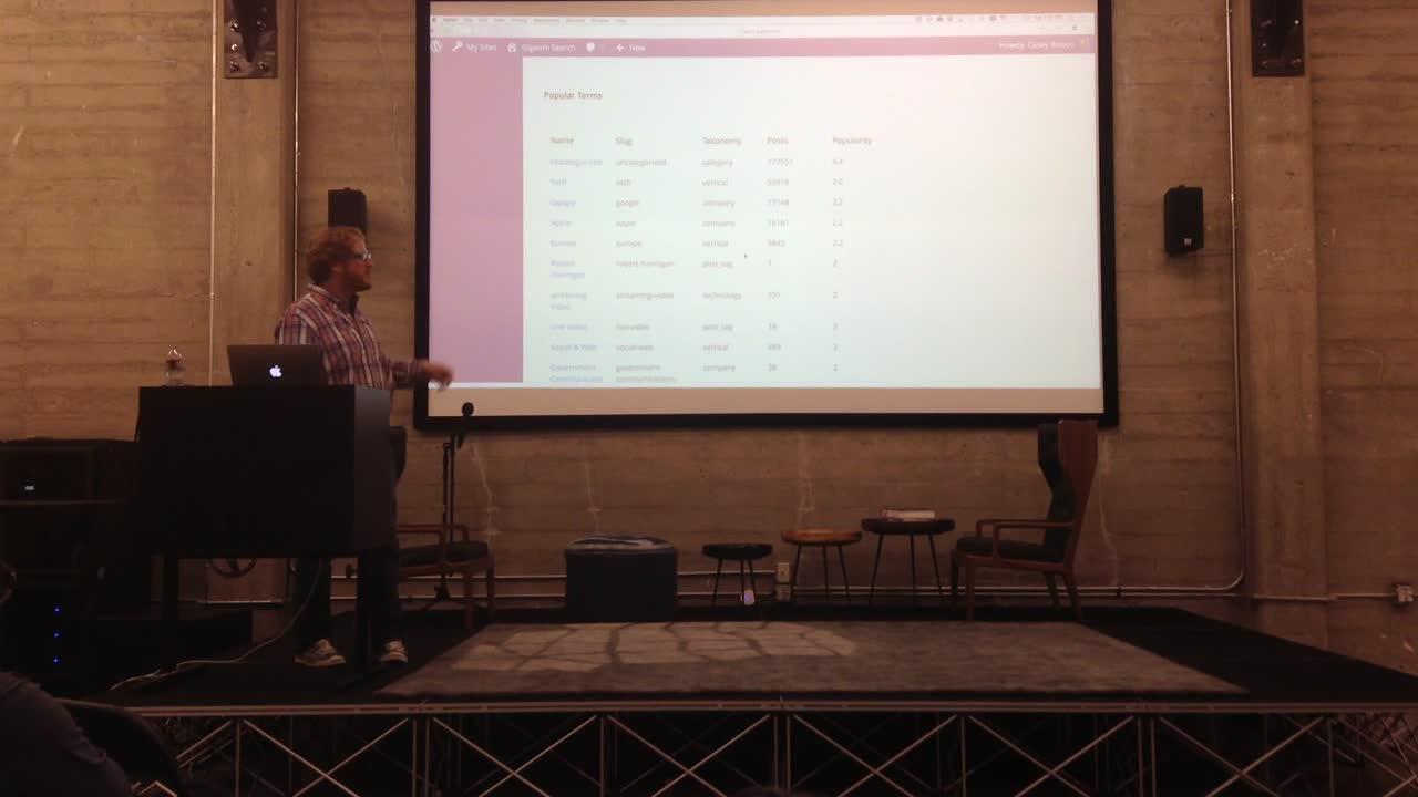 Casey Bisson GigaOm's Search and Alerts – SF Big Media & Enterprise WordPress Meetup