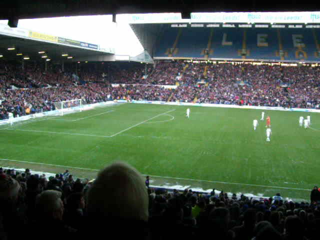 """Marching on Together"" before kick off at Elland Road, 18th December 2010."