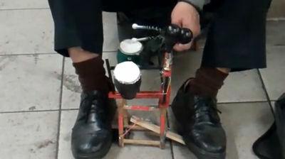 The Latin Foot Drummer@ NYC Subway
