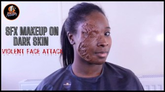 How To Do Special Effects Makeup On Dark Skin (Film Makeup)