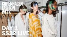 Day 1 Copenhagen Fashion Week Ss22 Live Stream