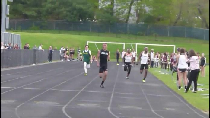 NVL track: 4x100-relay;NVL track: Pole vault ;NVL track: Girls hurdles ;NVL track: Boys hurdles ;NVL track: Long jump (Woodland, Watertown) ;NVL track: Long jump (Holy Cross)
