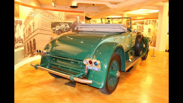 The centerpiece of the vintage automobile collection at the Museum of Springfield History in Springfield, Mass. is a 1928 Rolls-Royce Phantom I that was made in Springfield and owned for 77 years by M. Allen Swift of Hartford.