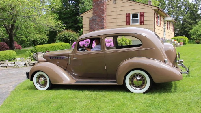 George Gros of Morris, Conn. owns a 1936 Terraplane that his father bought new in 1936 for $650, plus $25 for the hump trunk option. The 81-year-old two-door sedan has nearly 81,000 miles on the odometer and is still running strong even if it does burn a bit of oil.