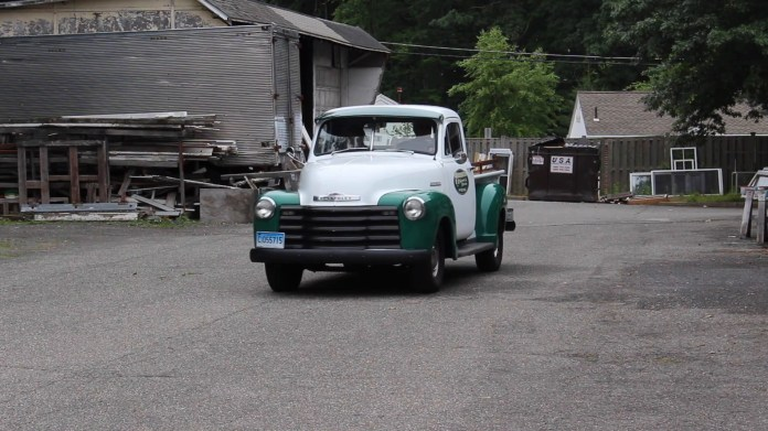 Joe Sabia of Torrington used the crew at Torrington Sash & Door in Torrington, Conn. to help restore a 1953 Chevrolet 3100 pickup that's now part of the company's fleet. The process took 10 years and the truck now helps promote the business.