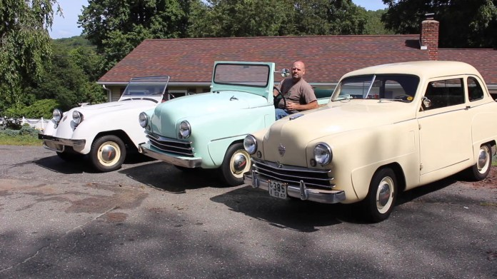 Ted DellaCamera of Oakville, Conn. collects Crosley cars. The brand only existed between 1939 and 1952 and was founded by Powel Crosley Jr., whose other companies made radios and appliances. He also owned the Cincinnati Reds and WLW radio. DellaCamera owns seven Crosleys and operates Yankee Crosley Parts to assist other Crosley owners in restoring their cars and keeping them running.