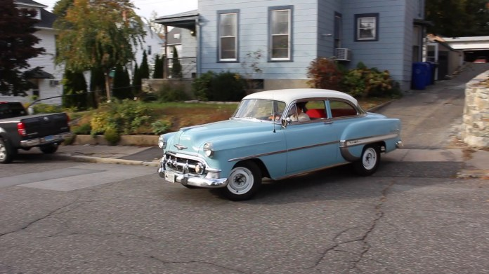 Tim Murphy of Torrington, Conn owns and drives a 1953 Chevrolet Bel Air that's he modified a bit while keeping the stock look.