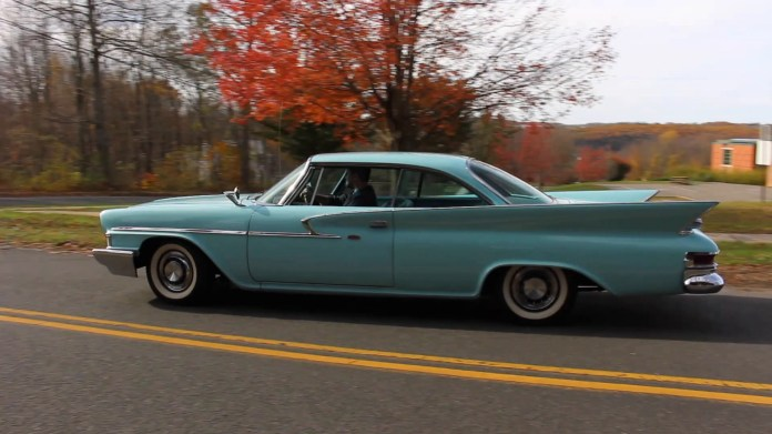 Ryan Oberndorfer of Plymouth, Conn. is caretaker of a 1961 Chrysler Newport that his late father bought in 2010. It has numerous period features and styling cues.
