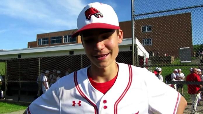 Baseball state tourney: Wolcott's Brett Adams strong on mound