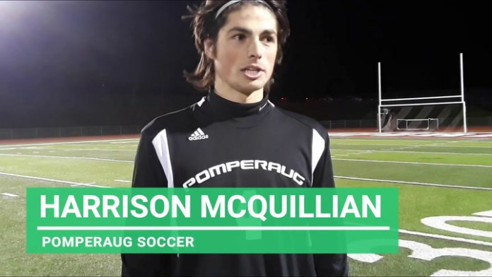Pomperaug soccer junior Harrison McQuillan