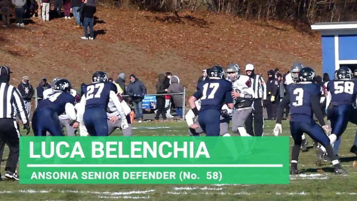 Ansonia defender Luca Belenchia