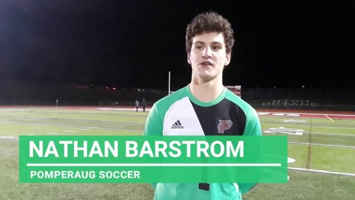 Pomperaug soccer senior Nathan Barstrom