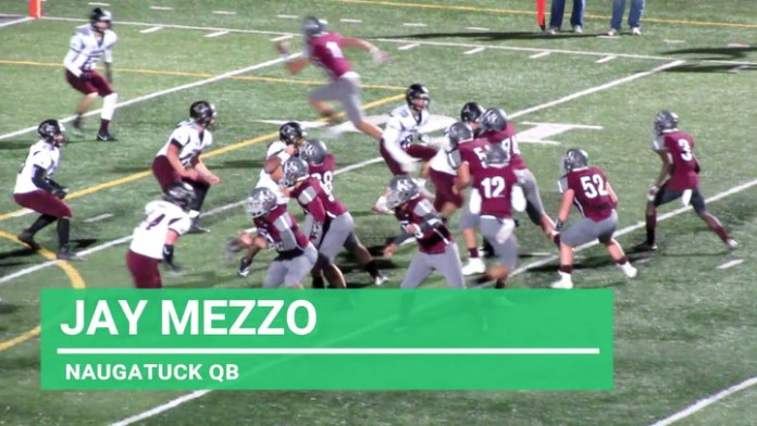 Naugatuck quarterback Jay Mezzo