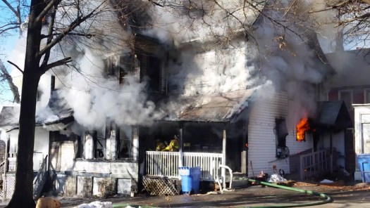 Fire at 150 Waterville St. in Waterbury on Nov. 23, 2018