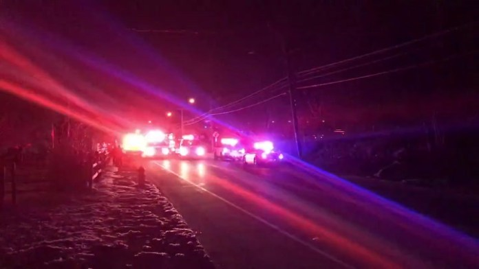 Second video from the three-car accident on Thomaston Avenue on Tuesday
