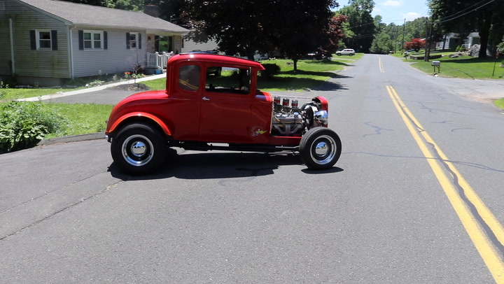 """George Ronalter of Naugatuck, Conn. owns a bright red 1930 Ford Model A hot rod that gets regular use. He recalls the first time he spotted it and tells why he bought it in """"My Ride."""""""