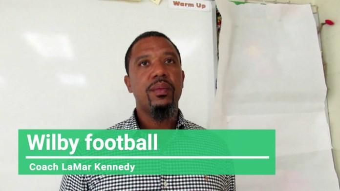 Wilby football coach LaMar Kennedy