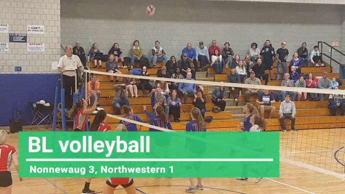 BL volleyball: Nonnewaug tops Northwestern
