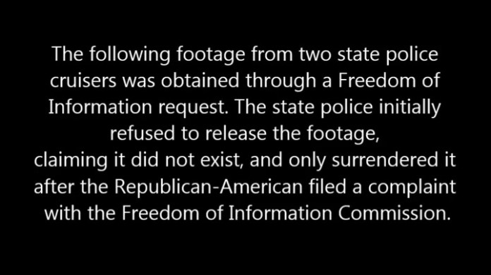 Following a Freedom of Information request and a complaint to the Freedom of Information Commission, the state police released footage from a high-speed pursuit in December.