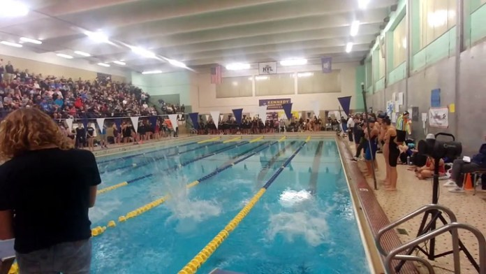 Seymour's Katrine O'Leary wins 50-freestyle