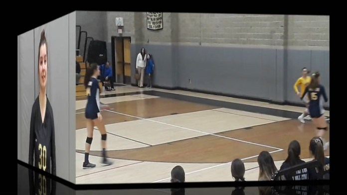 Woodland volleyball player Mary Pelkey