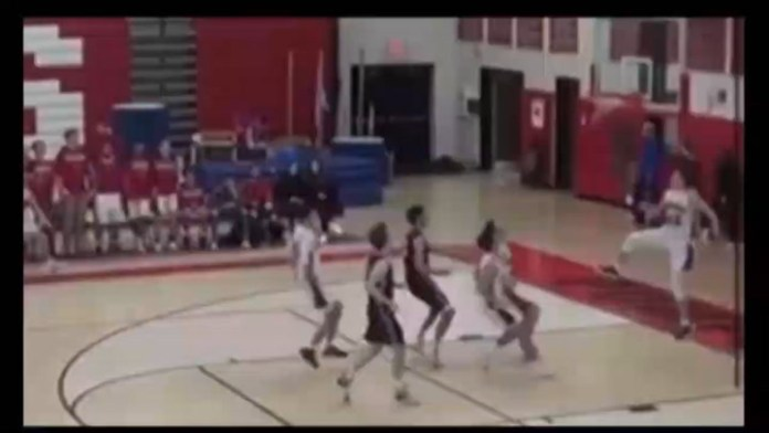 Dunk: Pomperaug's Dragone slams it home