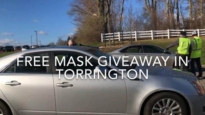 Twenty thousand masks were distributed May 12 in Torrington.