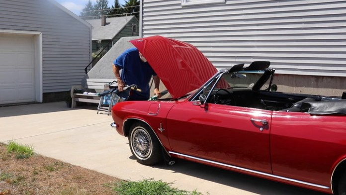 Dave Kulak of Bristol, CT owns a rear-engine, air-cooled 1965 Chevrolet Corvair Monza convertible that he bought 3½ years ago. He shares it in My Ride.