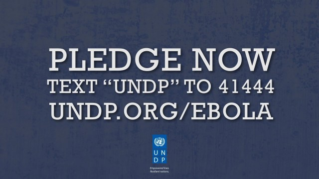 Support UNDP's Ebola Response (French)