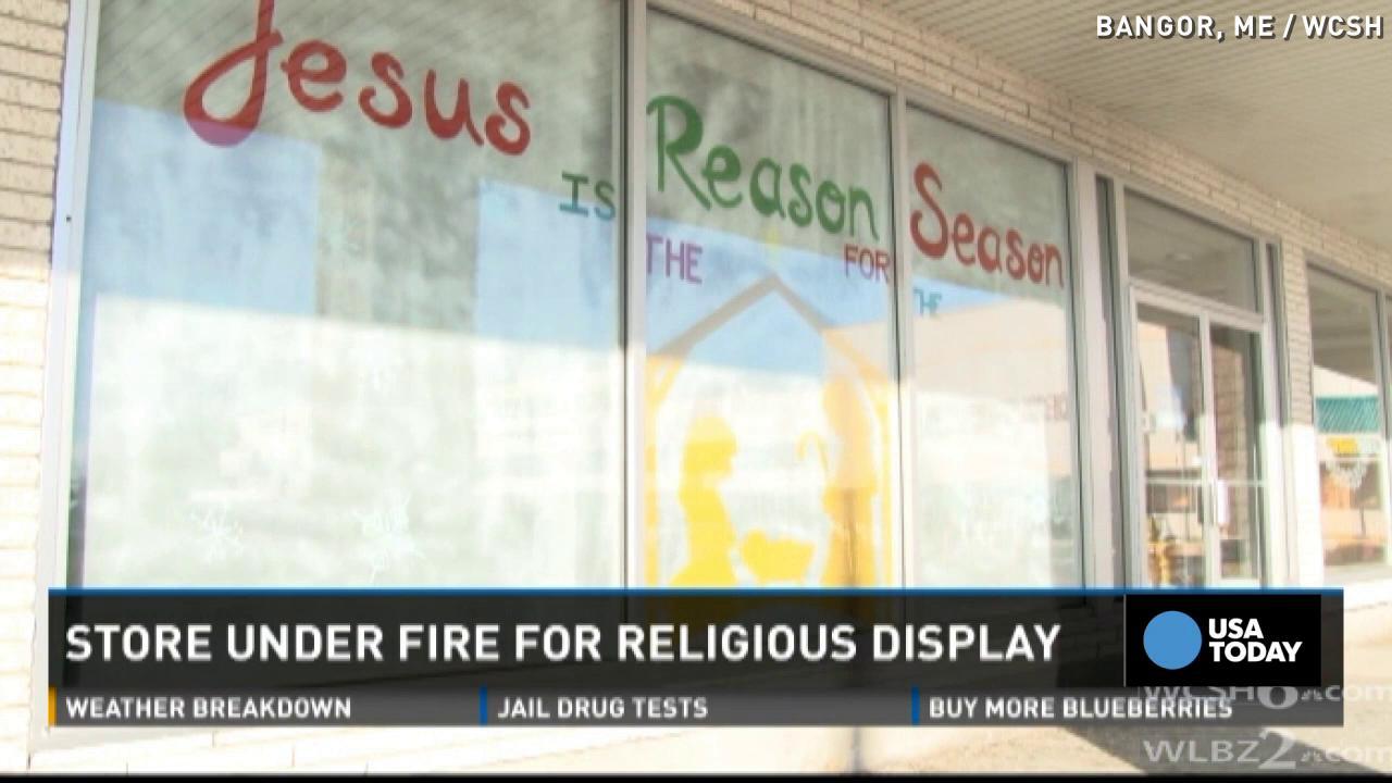 Store Keeps Christmas Themed Window Display