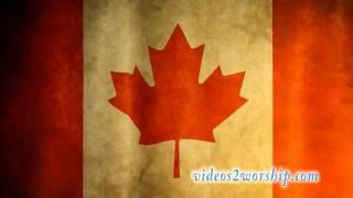 Canadian Waving Flag Background