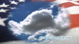 American Flag And Moving Clouds