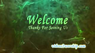 Green Fractal Welcome Motion