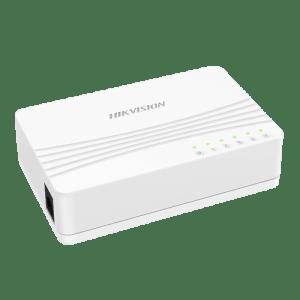 Interruttore da tavolo Hikvision - 5 porte RJ45 - Velocità 10/100 Mbps - Plug & Play - Basso consumo