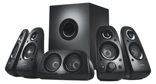 Logitech Z506 5.1 Channel Surround Sound Multimedia Speakers (Black)
