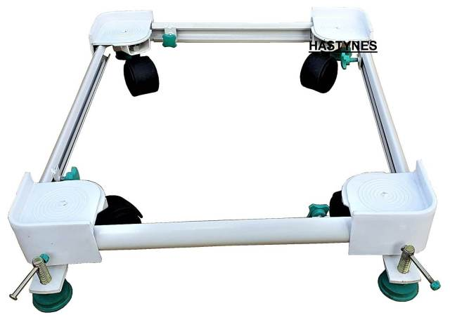 HASTYNES Heavy Duty Front-Top Load Washing Machine Stand Trolley