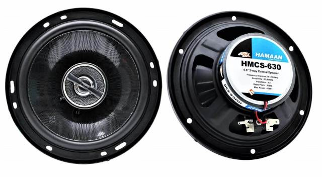 Hamaan HMCS-630 Left and Right 6.5 Coaxial Car Speakers