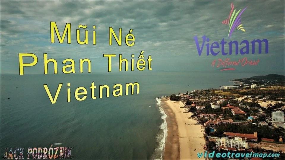Plaża w Muin Ne we Wietnamie z drona 1